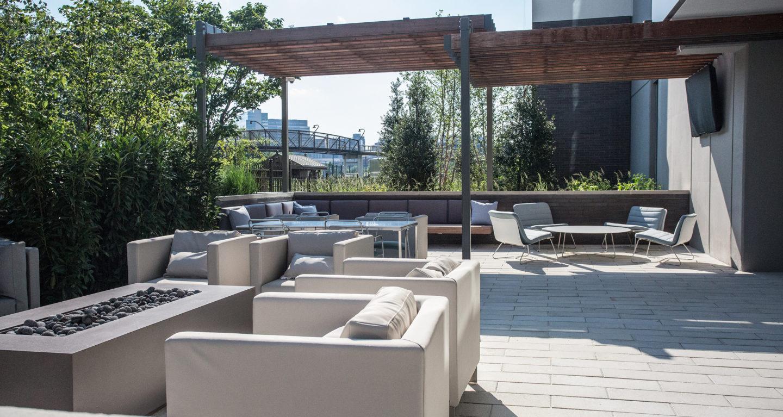 One Riverside patio