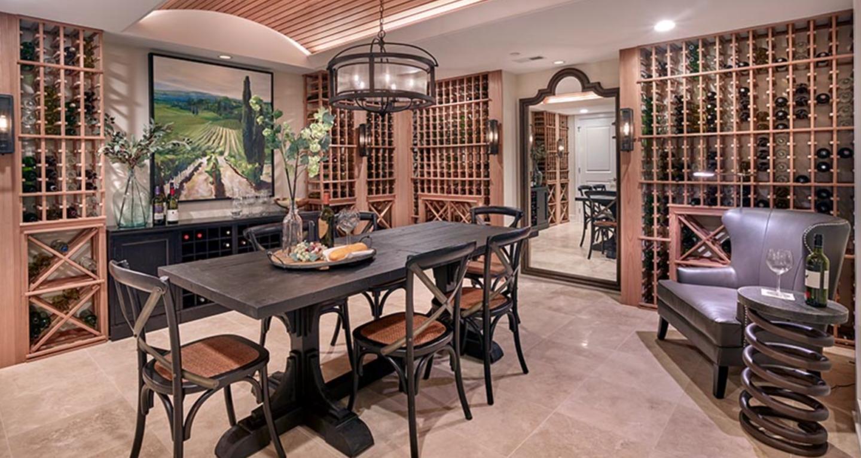 Rabbit Run Creek basement wine cellar
