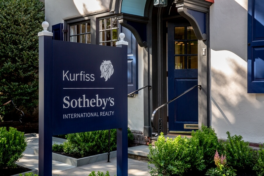 Kurfiss Sotheby's International Realty sign in Chestnut Hill.
