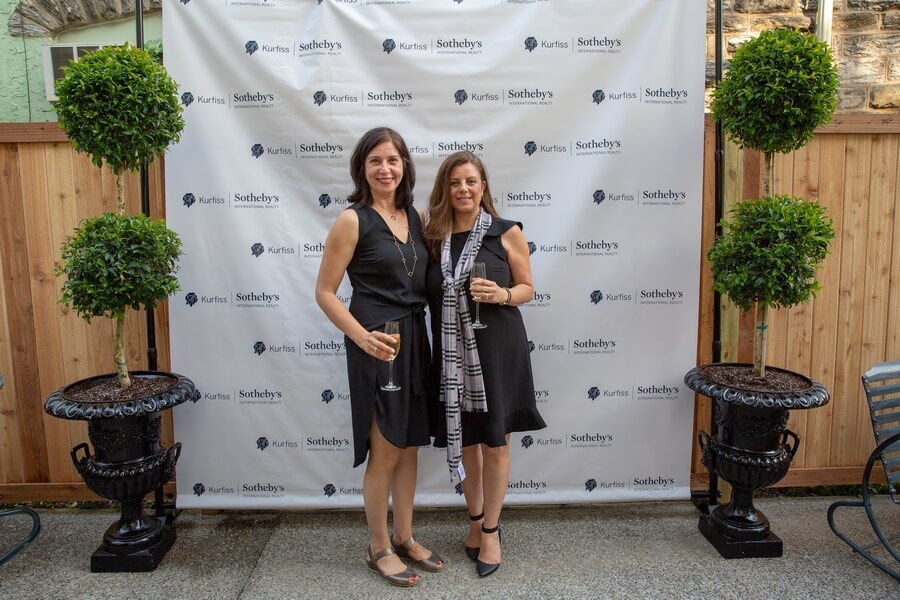 Neda Sharifian, left, with agent Faye Sokhanvari